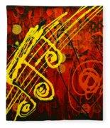 Music 2 Fleece Blanket