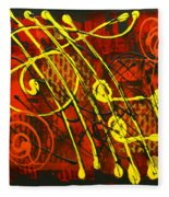Music 3 Fleece Blanket