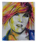 Music Artist..pink Fleece Blanket