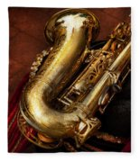 Music - Brass - Saxophone  Fleece Blanket
