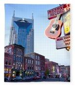 Music City Usa Fleece Blanket