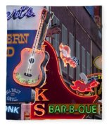 Music Clubs Nashville Fleece Blanket