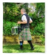 Music - Drummer In Pipe Band Fleece Blanket
