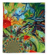 Music In Bird Of Tree Assymetrical Fleece Blanket