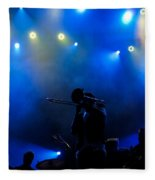 Music In Blue - Montreal Jazz Festival Fleece Blanket
