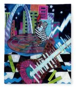 Music On The River Stl Style Fleece Blanket
