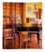 Music - Piano - Ready For Piano Lessons Fleece Blanket