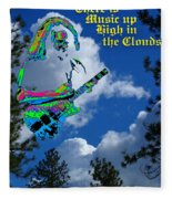 Music Up In The Clouds Again Fleece Blanket