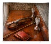 Music - Violin - A Sound Investment  Fleece Blanket