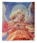 Musical Angel With Violin Fleece Blanket