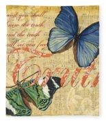 Musical Butterflies 3 Fleece Blanket