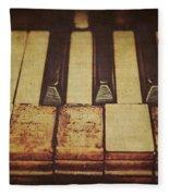 Musical Fingerprints Fleece Blanket