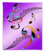 Musical Illusion Fleece Blanket
