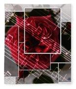 Musical Rose Montage Fleece Blanket