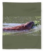 Muskrat's Dinner Fleece Blanket