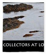 Mussel Collectors At Low Tide - Shellfish - Low Tide Fleece Blanket