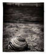 Mussel On The Beach Fleece Blanket