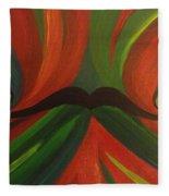 Mustache Fleece Blanket