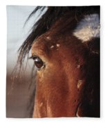 Mustang Battle Wounds Fleece Blanket