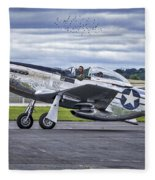 Mustang P51 Fleece Blanket