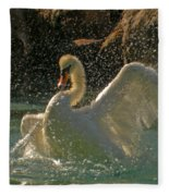 Mute Swan Fleece Blanket