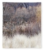 Muted Colors Of Winter Forest Fleece Blanket