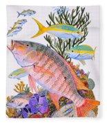 Mutton Snapper Reef Fleece Blanket