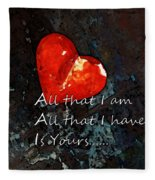 My All - Love Romantic Art Valentine's Day Fleece Blanket