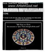 My Artist4god Website Fleece Blanket