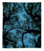 My Blue Dark Forest Fleece Blanket