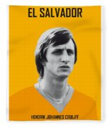 My Cruijff Soccer Legend Poster Fleece Blanket