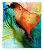 My Cup Runneth Over - Abstract Art By Sharon Cummings Fleece Blanket