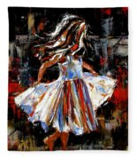 My Dress Fleece Blanket
