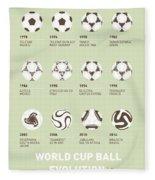 My Evolution Soccer Ball Minimal Poster Fleece Blanket