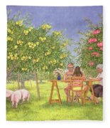 My Family And Other Animals Fleece Blanket