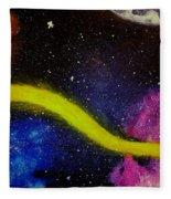 My Galaxy In Blue Cross Process Fleece Blanket