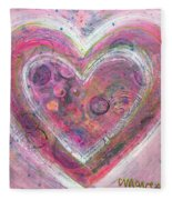 My Glittering Heart Fleece Blanket
