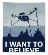 My I Want To Believe Minimal Poster-war-of-the-worlds Fleece Blanket