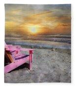My Life As A Beach Chair Fleece Blanket