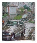 My Lincoln In The Rain Fleece Blanket