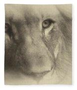 My Lion Eyes In Antique Fleece Blanket