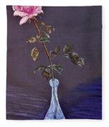 My Mothers Rose Fleece Blanket