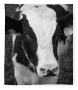 My Name Is Cow - Black And White Fleece Blanket