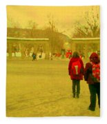 My Old Alma Mater Mcgill University Golden Olden Days Montreal Memories City Scenes Carole Spandau Fleece Blanket