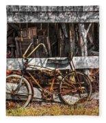 My Old Bike Fleece Blanket