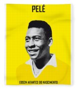 My Pele Soccer Legend Poster Fleece Blanket
