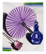 My Purple Fan Fleece Blanket