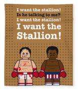 My Rocky Lego Dialogue Poster Fleece Blanket