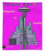 My Sleepless In Seattle Movie Poster Fleece Blanket
