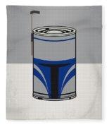 My Star Warhols Jango Fett Minimal Can Poster Fleece Blanket